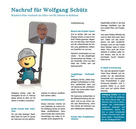 Nachruf für Wolfgang Schütz
